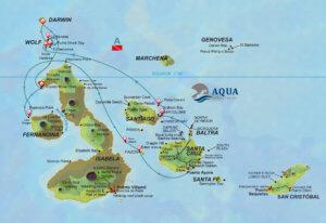 Galapagos Aqua Tauchplatzkarte
